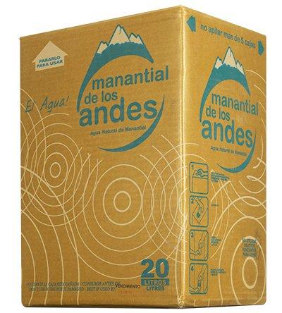 caja de agua mineral de Manantial de los Andes